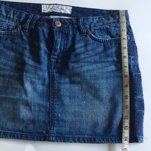 H&M Skirts - H&M LOGG denim mini-skirt dark wash embroidered